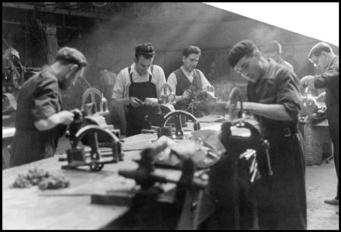 Workers in a munitions factory, Madrid, June 1937