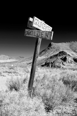 Road Sign - Rhyolite, Nevada